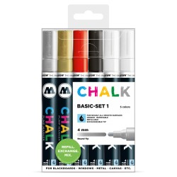 Molotow Chalk Basic-set 1 - 5ks / 4 mm