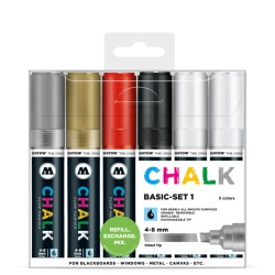 Molotow Chalk Basic-set 1 - 6ks / 4-8 mm
