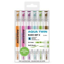 Molotow Aqua Twin Basic-set 2 - 6 ks