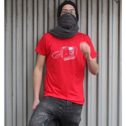 T-Shirt Mu Camera by BROS - Red UNI