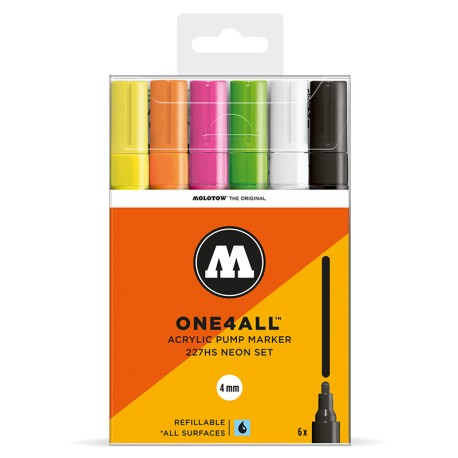 Molotow One4All 227HS Neon set - 6 ks