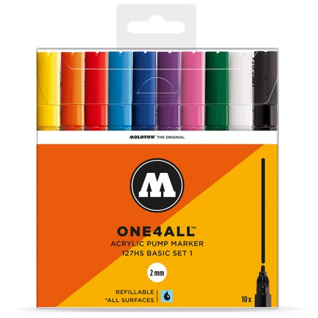 Molotow One4All 127HS Basic Set 1- 10 ks