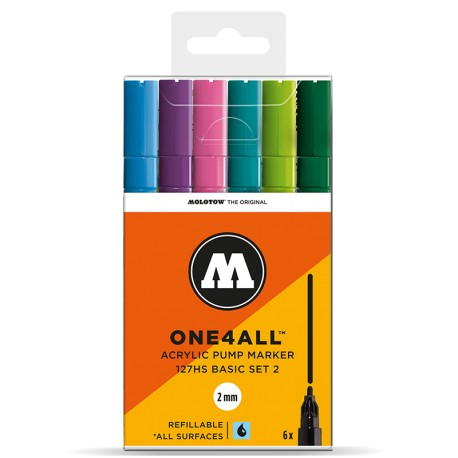 Molotow One4All 127HS Basic Set 2 - 6 ks
