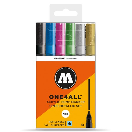 Molotow One4All 127HS Metallic Set - 6 ks