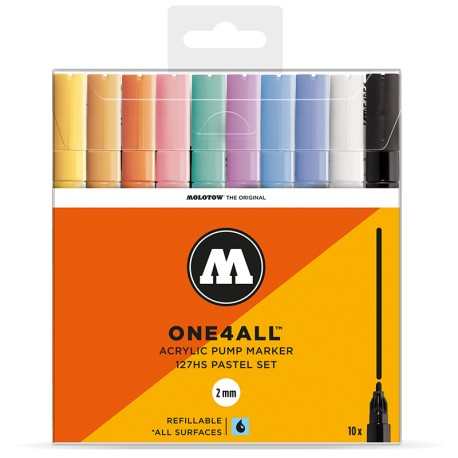 Molotow One4All 127HS Pastel Set - 10 ks