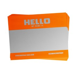 "Montana ""Hello My Name is"" NEON stickers - 100 ks"