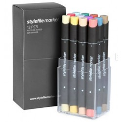 Stylefile Pastel set - 12 ks